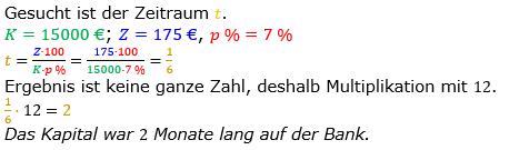 Zinsrechnung Zeitraum berechnen Lösungen zum Aufgabensatz 05 Blatt 1/2 Grundlagen Bild A1205L01/© by www.fit-in-mathe-online.de