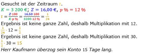 Zinsrechnung Zeitraum berechnen Lösungen zum Aufgabensatz 06 Blatt 2/1 Fortgeschritten Bild A2106L01/© by www.fit-in-mathe-online.de
