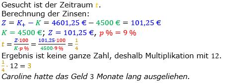 Zinsrechnung Zeitraum berechnen Lösungen zum Aufgabensatz 08 Blatt 2/1 Fortgeschritten Bild A2108L01/© by www.fit-in-mathe-online.de