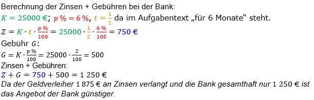 Zinsrechnung Zinsen berechnen Lösungen zum Aufgabensatz 05 Blatt 1/2 Grundlagen Bild A1205L01/© by www.fit-in-mathe-online.de