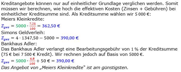 Zinsrechnung Zinsen berechnen Lösungen zum Aufgabensatz 10 Blatt 1/2 Grundlagen Bild A1210L01/© by www.fit-in-mathe-online.de