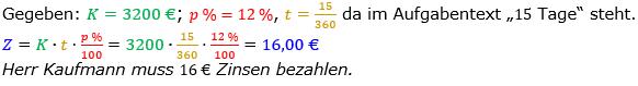 Zinsrechnung Zinsen berechnen Lösungen zum Aufgabensatz 06 Blatt 2/1 Fortgeschritten Bild A2106L01/© by www.fit-in-mathe-online.de