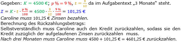 Zinsrechnung Zinsen berechnen Lösungen zum Aufgabensatz 08 Blatt 2/1 Fortgeschritten Bild A2108L01/© by www.fit-in-mathe-online.de