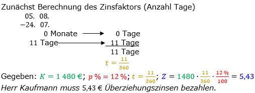 Zinsrechnung Zinsen berechnen Lösungen zum Aufgabensatz 05 Blatt 2/2 Fortgeschritten Bild A2205L01/© by www.fit-in-mathe-online.de