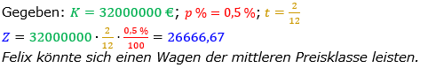 Zinsrechnung Zinsen berechnen Lösungen zum Aufgabensatz 08 Blatt 2/2 Fortgeschritten Bild A2208L01/© by www.fit-in-mathe-online.de