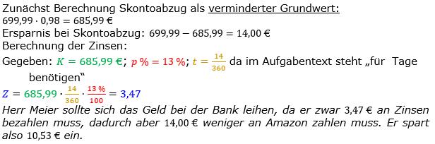 Zinsrechnung Zinsen berechnen Lösungen zum Aufgabensatz 09 Blatt 2/2 Fortgeschritten Bild A2209L01/© by www.fit-in-mathe-online.de