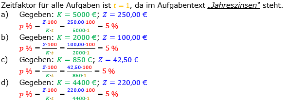 Zinsrechnung Zinssatz berechnen Lösungen zum Aufgabensatz 03 Blatt 1/1 Grundlagen Bild A1103L01/© by www.fit-in-mathe-online.de