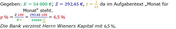 Zinsrechnung Zinssatz berechnen Lösungen zum Aufgabensatz 08 Blatt 1/2 Grundlagen Bild A1208L01/© by www.fit-in-mathe-online.de