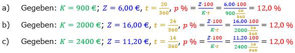 Zinsrechnung Zinssatz berechnen Lösungen zum Aufgabensatz 05 Blatt 2/1 Fortgeschritten Bild A2105L01/© by www.fit-in-mathe-online.de