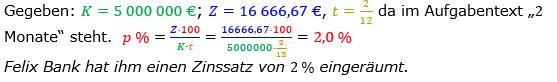 Zinsrechnung Zinssatz berechnen Lösungen zum Aufgabensatz 09 Blatt 2/1 Fortgeschritten Bild A2109L01/© by www.fit-in-mathe-online.de