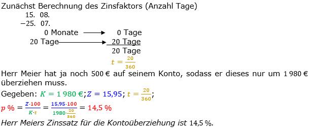 Zinsrechnung Zinssatz berechnen Lösungen zum Aufgabensatz 06 Blatt 2/2 Fortgeschritten Bild A2206L01/© by www.fit-in-mathe-online.de
