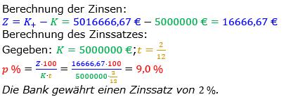 Zinsrechnung Zinssatz berechnen Lösungen zum Aufgabensatz 04 Blatt 2/3 Fortgeschritten Bild A2304L01/© by www.fit-in-mathe-online.de