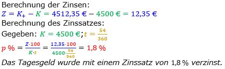 Zinsrechnung Zinssatz berechnen Lösungen zum Aufgabensatz 06 Blatt 2/3 Fortgeschritten Bild A2306L01/© by www.fit-in-mathe-online.de