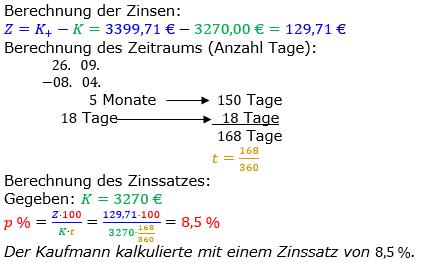 Zinsrechnung Zinssatz berechnen Lösungen zum Aufgabensatz 11 Blatt 2/3 Fortgeschritten Bild A2311L01/© by www.fit-in-mathe-online.de