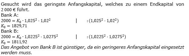 Zinseszinses Kapitalentwicklung Lösungen zum Aufgabensatz 8 Blatt 1/3 Grundlagen Bild 1/© by www.fit-in-mathe-online.de