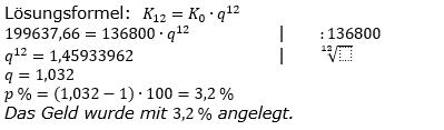 Zinseszinses Kapitalentwicklung Lösungen zum Aufgabensatz 10 Blatt 1/3 Grundlagen Bild 1/© by www.fit-in-mathe-online.de