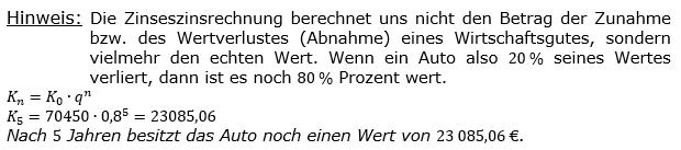 Zinseszinses Kapitalentwicklung Lösungen zum Aufgabensatz 2 Blatt 2/1 Fortgeschritten Bild 1/© by www.fit-in-mathe-online.de