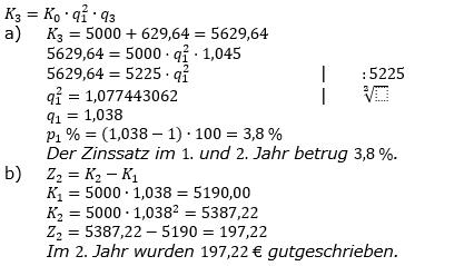 Zinseszinses Kapitalentwicklung Lösungen zum Aufgabensatz 7 Blatt 2/2 Fortgeschritten Bild 1/© by www.fit-in-mathe-online.de