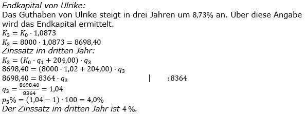 Zinseszinses Kapitalentwicklung Lösungen zum Aufgabensatz 2 Blatt 3/2 Expert Bild 1/© by www.fit-in-mathe-online.de
