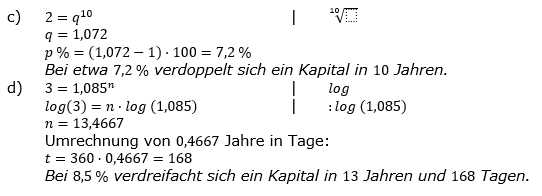 Zinseszinses Prüfungsaufgaben Lösungen zum Aufgabensatz 5 Blatt 1 A01 - A08 Bild 2/© by www.fit-in-mathe-online.de