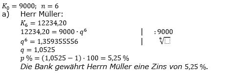 Zinseszinses Prüfungsaufgaben Lösungen zum Aufgabensatz 6 Blatt 1 A01 - A08 Bild 1/© by www.fit-in-mathe-online.de