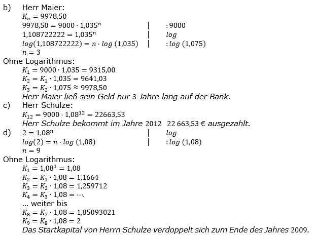 Zinseszinses Prüfungsaufgaben Lösungen zum Aufgabensatz 6 Blatt 1 A01 - A08 Bild 2/© by www.fit-in-mathe-online.de