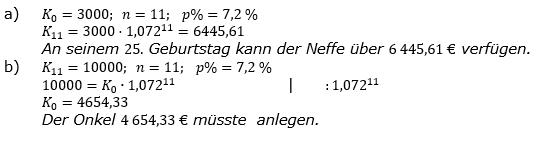 Zinseszinses Prüfungsaufgaben Lösungen zum Aufgabensatz 7 Blatt 1 A01 - A08 Bild 1/© by www.fit-in-mathe-online.de
