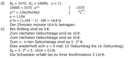 Zinseszinses Prüfungsaufgaben Lösungen zum Aufgabensatz 7 Blatt 1 A01 - A08 Bild 3/© by www.fit-in-mathe-online.de