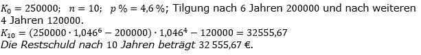 Zinseszinses Prüfungsaufgaben Lösungen zum Aufgabensatz 11 Blatt 2 A09 - A16 Bild 1/© by www.fit-in-mathe-online.de