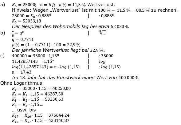 Zinseszinses Prüfungsaufgaben Lösungen zum Aufgabensatz 13 Blatt 2 A09 - A16 Bild 1/© by www.fit-in-mathe-online.de