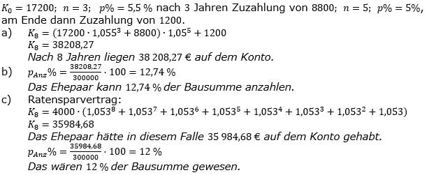 Zinseszinses Prüfungsaufgaben Lösungen zum Aufgabensatz 15 Blatt 2 A09 - A16 Bild 1/© by www.fit-in-mathe-online.de