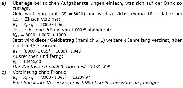 Zinseszinses Prüfungsaufgaben Lösungen zum Aufgabensatz 34 Blatt 5 A33 - A40 Bild 1/© by www.fit-in-mathe-online.de