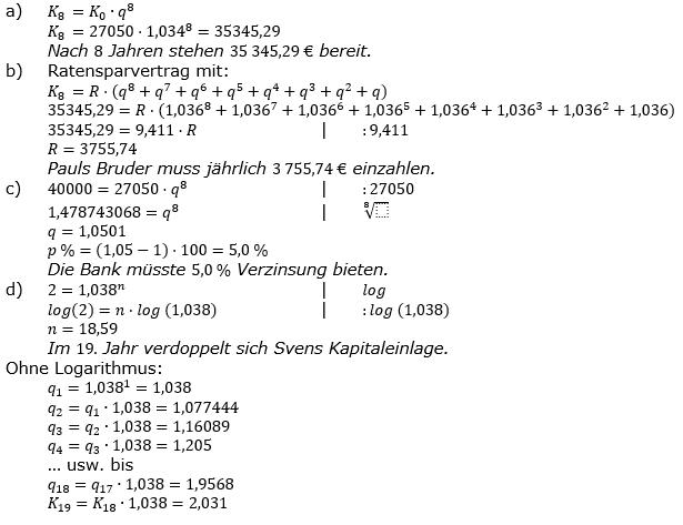 Zinseszinses Prüfungsaufgaben Lösungen zum Aufgabensatz 38 Blatt 5 A33 - A40 Bild 1/© by www.fit-in-mathe-online.de