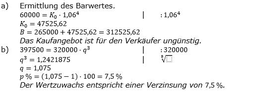 Zinseszinses Prüfungsaufgaben Lösungen zum Aufgabensatz 44 Blatt 6 A41 - A48 Bild 1/© by www.fit-in-mathe-online.de
