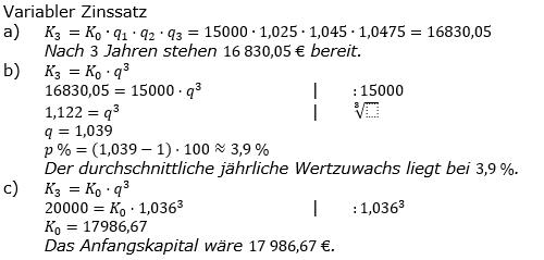 Zinseszinses Prüfungsaufgaben Lösungen zum Aufgabensatz 46 Blatt 6 A41 - A48 Bild 1/© by www.fit-in-mathe-online.de
