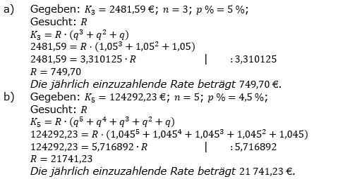 Ratensparen fester Zinssatz Lösungen zum Aufgabensatz 2 Blatt 1/2 Grundlagen/© by www.fit-in-mathe-online.de