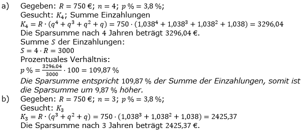 Ratensparen fester Zinssatz Lösungen zum Aufgabensatz 3 Blatt 1/2 Grundlagen/© by www.fit-in-mathe-online.de
