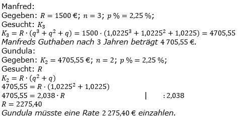 Ratensparen fester Zinssatz Lösungen zum Aufgabensatz 4 Blatt 1/2 Grundlagen/© by www.fit-in-mathe-online.de