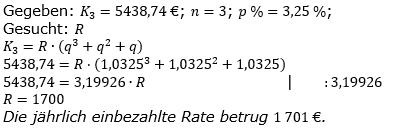 Ratensparen fester Zinssatz Lösungen zum Aufgabensatz 5 Blatt 1/2 Grundlagen/© by www.fit-in-mathe-online.de