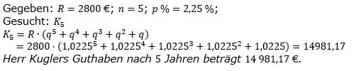 Ratensparen fester Zinssatz Lösungen zum Aufgabensatz 7 Blatt 1/2 Grundlagen/© by www.fit-in-mathe-online.de