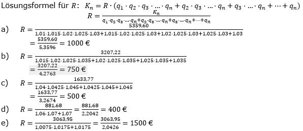 Ratensparen variabler Zinssatz Lösungen zum Aufgabensatz 3 Blatt 2/1 Fortgeschritten/© by www.fit-in-mathe-online.de