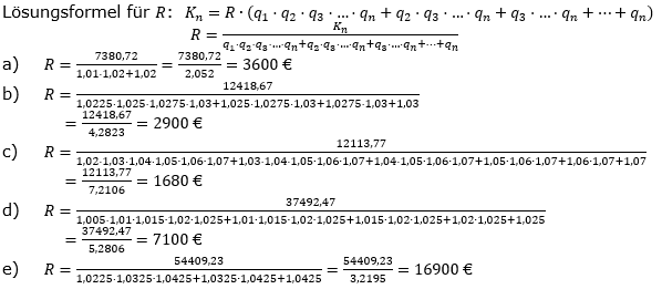 Ratensparen variabler Zinssatz Lösungen zum Aufgabensatz 4 Blatt 2/1 Fortgeschritten/© by www.fit-in-mathe-online.de