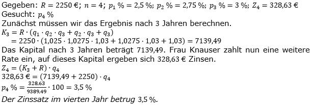 Ratensparen variabler Zinssatz Lösungen zum Aufgabensatz 5 Blatt 2/1 Fortgeschritten/© by www.fit-in-mathe-online.de