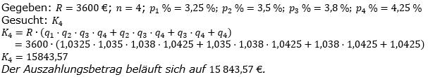 Ratensparen variabler Zinssatz Lösungen zum Aufgabensatz 8 Blatt 2/1 Fortgeschritten/© by www.fit-in-mathe-online.de