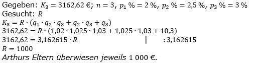 Ratensparen variabler Zinssatz Lösungen zum Aufgabensatz 5 Blatt 2/12Fortgeschritten/© by www.fit-in-mathe-online.de