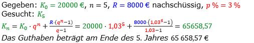Rentenrechnung Lösungen zum Aufgabensatz 5 Blatt 1/1 Grundlagen/© by www.fit-in-mathe-online.de