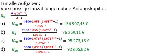 Rentenrechnung Lösungen zum Aufgabensatz 7 Blatt 1/1 Grundlagen/© by www.fit-in-mathe-online.de