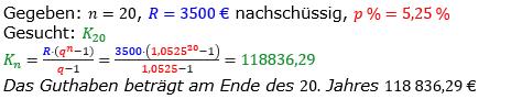 Rentenrechnung Lösungen zum Aufgabensatz 8 Blatt 1/1 Grundlagen/© by www.fit-in-mathe-online.de