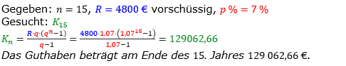 Rentenrechnung Lösungen zum Aufgabensatz 9 Blatt 1/1 Grundlagen/© by www.fit-in-mathe-online.de