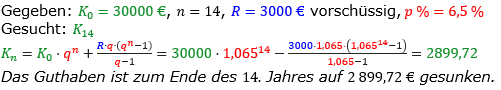 Rentenrechnung Lösungen zum Aufgabensatz 12 Blatt 1/1 Grundlagen/© by www.fit-in-mathe-online.de